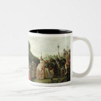 Joseph Receives his Father in Egypt, 1628 Two-Tone Coffee Mug