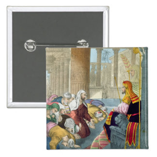 Joseph Receiving the Homage of his Brethren, from 2 Inch Square Button