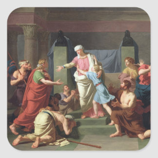 Joseph Recognised by his Brothers, 1789 Square Sticker
