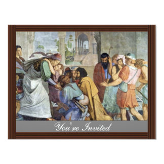 Joseph Reveals Himself To His Brothers By Corneliu 4.25x5.5 Paper Invitation Card