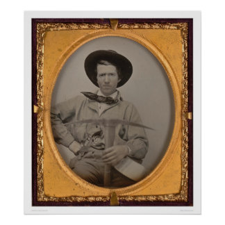 Joseph Sharp, with a pick axe, pan and gun (40010) Poster