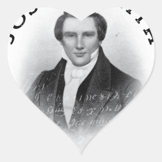 Joseph Smith el profeta de dios Pegatina En Forma De Corazón