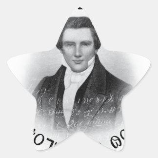 Joseph Smith el profeta de dios Pegatina En Forma De Estrella