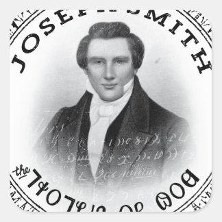 Joseph Smith el profeta de dios Pegatina Cuadrada