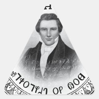 Joseph Smith el profeta de dios Pegatina Triangular