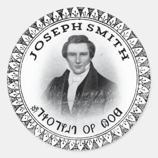 Joseph Smith el profeta de dios Pegatina Redonda