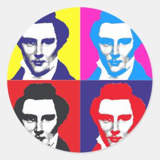 Joseph Smith Pop Art Classic Round Sticker