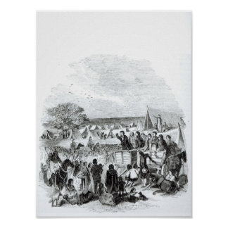 Joseph Smith Preaching in the Wilderness Poster