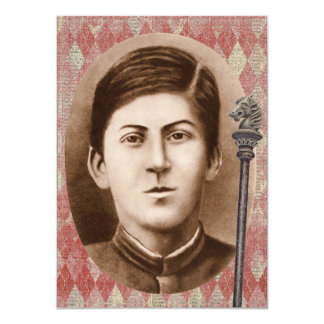 Joseph Stalin 14 years old Card