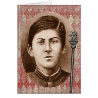 Joseph Stalin 14 years old Stationery Note Card