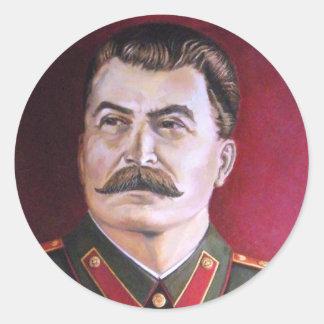 Joseph Stalin Pegatina Redonda