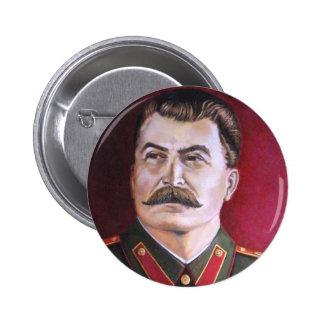 Joseph Stalin Pin Redondo De 2 Pulgadas