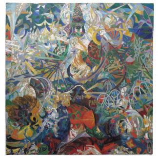 Joseph Stella - batalla de las luces, Coney Island Servilletas Imprimidas
