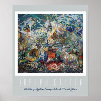 Joseph Stella - batalla de luces, carnaval Póster
