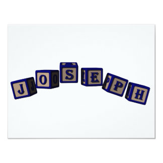 Joseph toy blocks in blue card