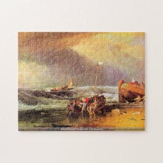Joseph Turner -Coastal scene with fishermen puzzle