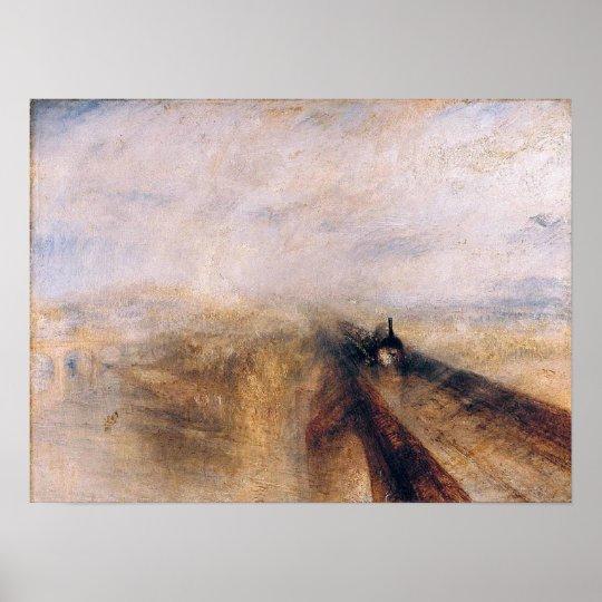 Joseph TURNER-Rain,Steam & Speed-The Great Western Poster