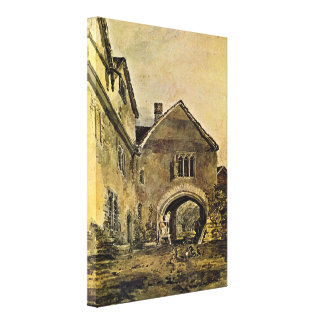 Joseph William Turner - Doorway of a mansion Stretched Canvas Print