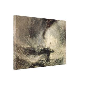 Joseph William Turner - Snow storm of the harbor Canvas Prints
