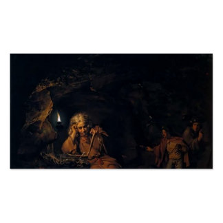 Joseph Wright- A Philosopher by Lamp Light Business Card Template