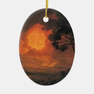 Joseph Wright- An Eruption of Mount Vesuvius Ceramic Ornament