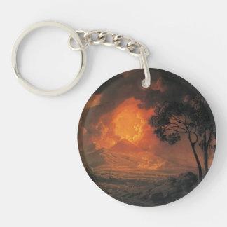 Joseph Wright- An Eruption of Mount Vesuvius Keychain