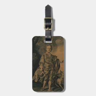 Joseph Wright- Boy with Plumed Hat and Greyhound Travel Bag Tags