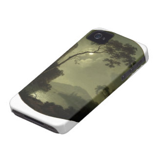 Joseph Wright- Lake with Castle on a Hill iPhone 4 Cover
