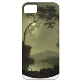 Joseph Wright- Lake with Castle on a Hill iPhone 5 Case