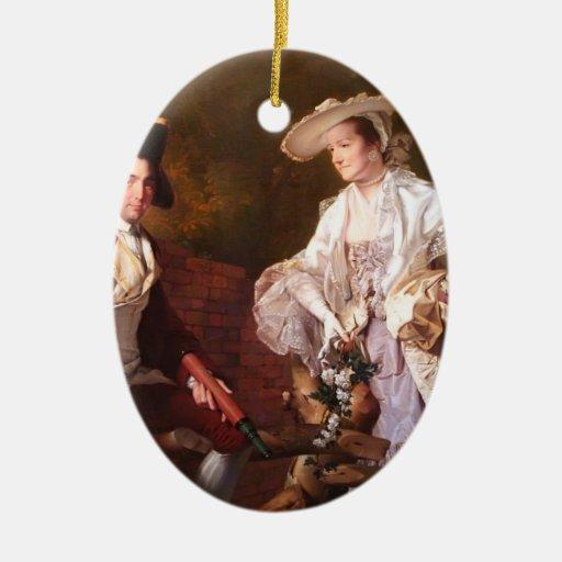 Joseph Wright-Peter Perez Burdett & his First Wife Christmas Ornaments
