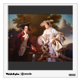 Joseph Wright-Peter Perez Burdett & his First Wife Wall Graphic