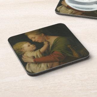 Joseph Wright- Portrait of Jane Darwin & her son Drink Coaster