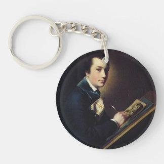 Joseph Wright:Portrait of the Revd. Samuel Rastall Keychain