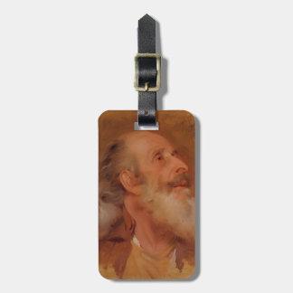 Joseph Wright- Study of John Staveley's Head Travel Bag Tags