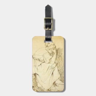 Joseph Wright- Study of Melancholy Girl Bag Tags