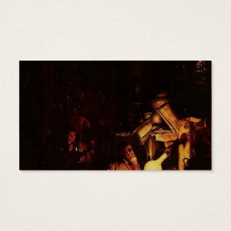 Joseph Wright-The Alchemist Discovering Phosphorus Business Card