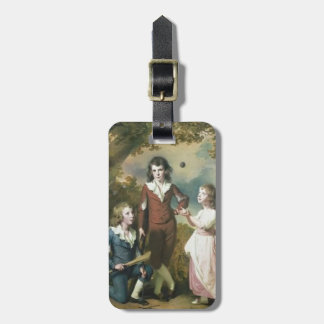 Joseph Wright-The Children of Hugh and Sarah Wood Tag For Luggage