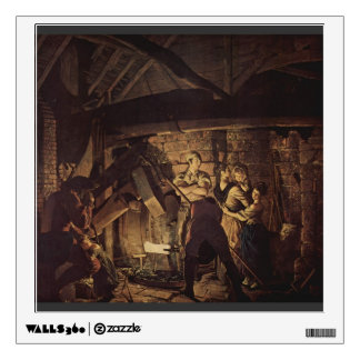 Joseph Wright- The Iron Forge Room Decal