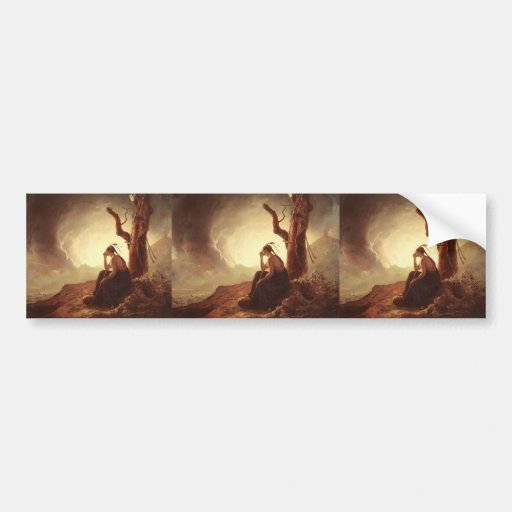 Joseph Wright- Widow of an Indian Chief Bumper Stickers