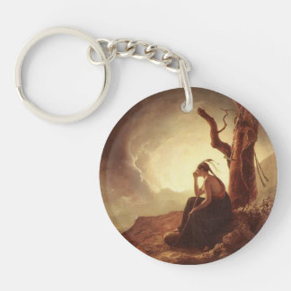 Joseph Wright- Widow of an Indian Chief Single-Sided Round Acrylic Keychain
