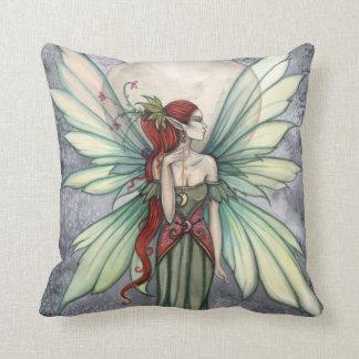 Josephina Green Fairy Fantasy Art Pillow