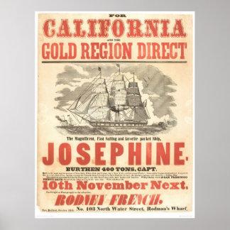 """""""Josephine"""" al anuncio de California (1280A) Impresiones"""