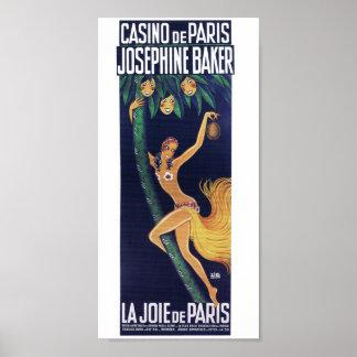 Joséphine Baker by ZIG Casino de Paris cabaret Poster