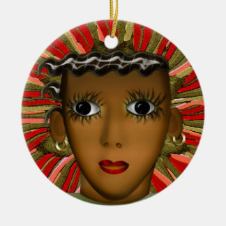 Josephine Baker in the 21st Century (Personalized) Double-Sided Ceramic Round Christmas Ornament