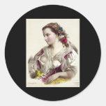 Joséphine Ducollet Fleur des champs Round Sticker
