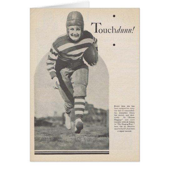 Josephine Dunn Vintage Portrait w/ Football 1929 Card