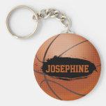 Josephine Grunge Basketball Personalized Keychain