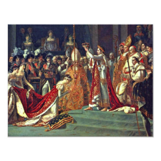 "Joséphine Kneels Before Napoleon During His Corona 4.25"" X 5.5"" Invitation Card"