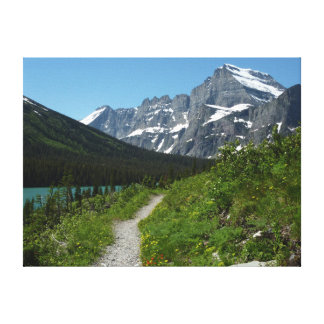 Josephine Lake Trail with Mount Guild at Glacier Canvas Print