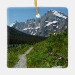 Josephine Lake Trail with Mount Guild at Glacier Ceramic Ornament